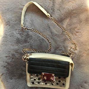 LAMB Brice leather handbag w chain strap